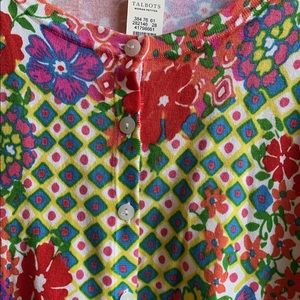 Spring Button down Talbots sweater NWT
